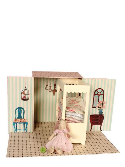 maileg mini hase prinzessin auf der erbse bettdecken bett raumbild ebay. Black Bedroom Furniture Sets. Home Design Ideas