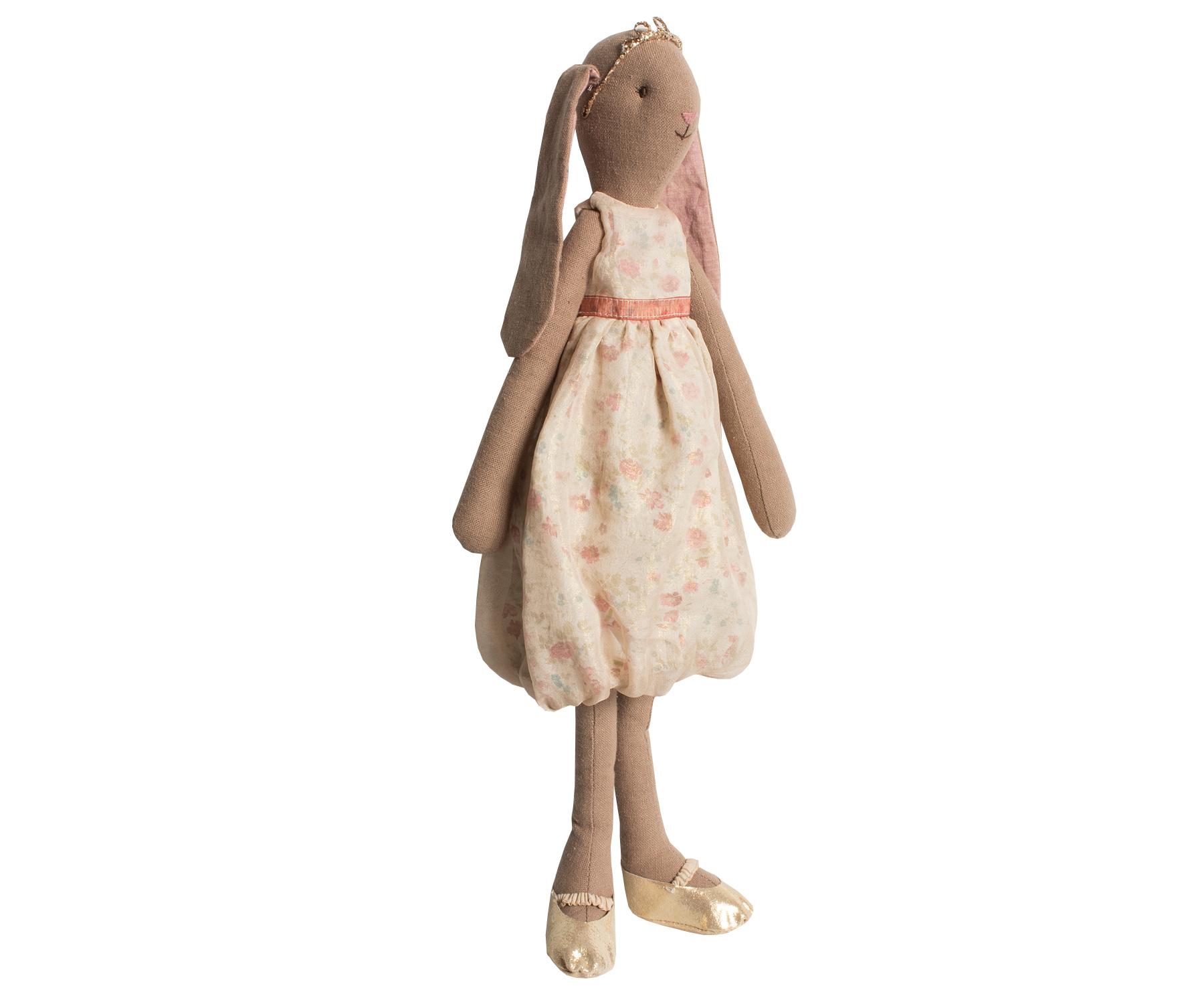 maileg medium floppy eared bunny rabbit delphine ballerina gold tiara shoes ebay. Black Bedroom Furniture Sets. Home Design Ideas