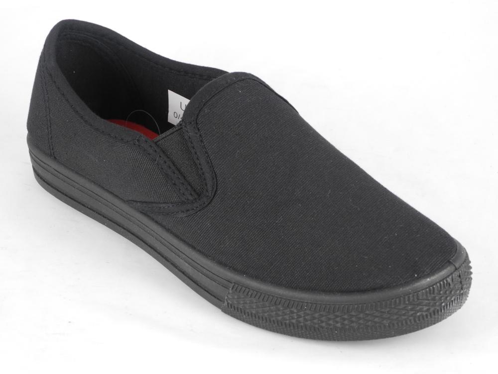 Older Boys Slip On Canvas Pumps Plimsolls Summer Deck Shoes Size 13 1 2 3 4 5 6 | EBay