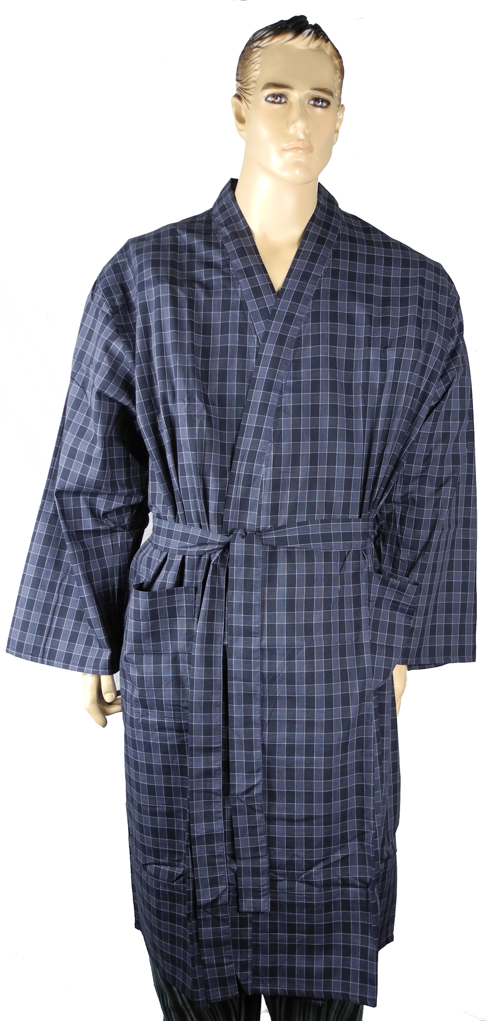 Mens Lightweight Polyester Cotton Dressing Gown Robe Big 2xl 3xl 4xl