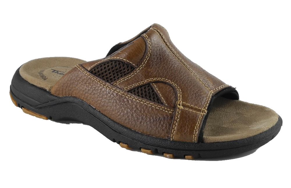 Mens Leather Mule Sandals