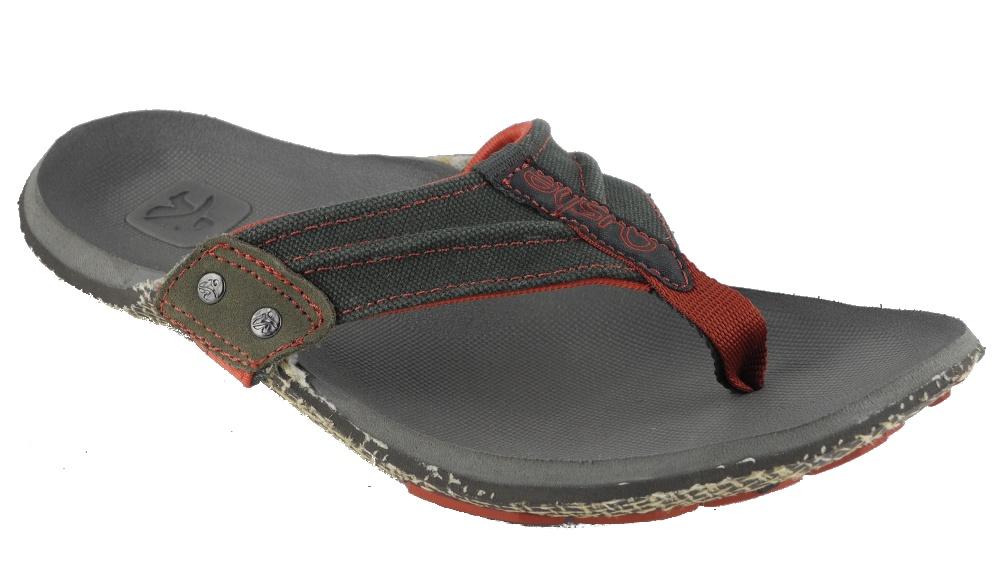 bb833590cad Mens CUSHE Manuka Webb Canvas Foot Shaped Flip Flops Sandals Size 7 ...