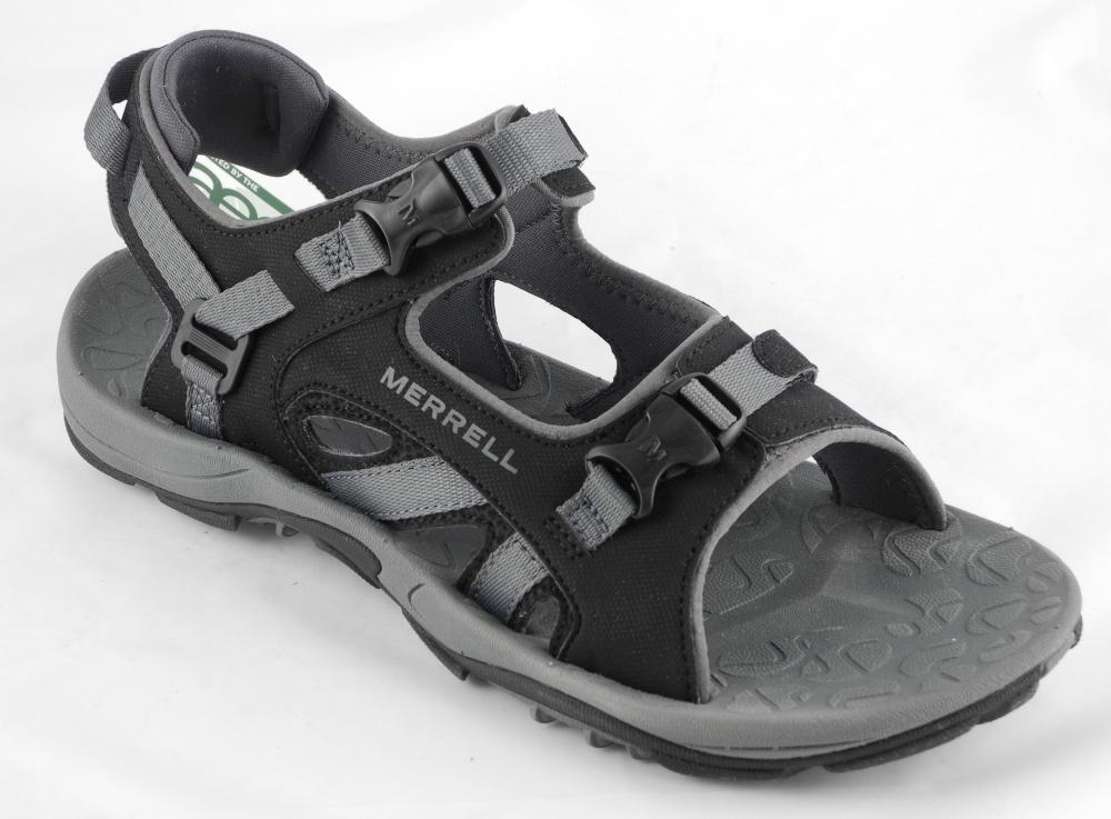 Mens-MERRELL-River-Bank-Sport-Trail-Hiking-Sandals-Black-Size-8-9-10-11