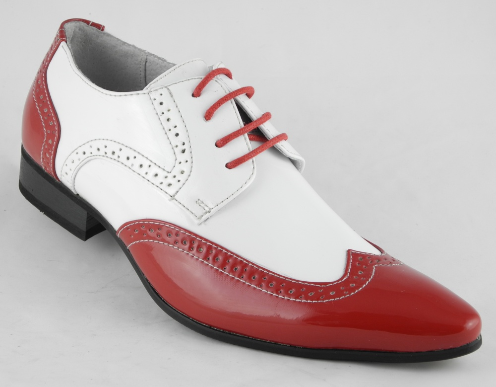 Mens White Pointed Toe Shoes