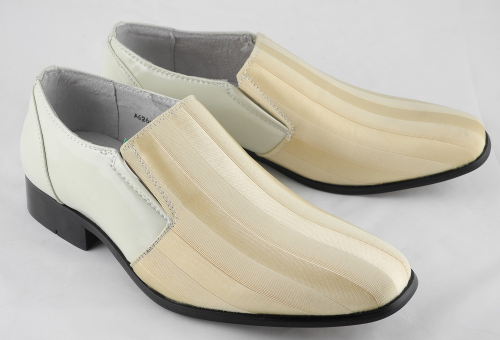 mens patent leather lined dress wedding shoes ivory