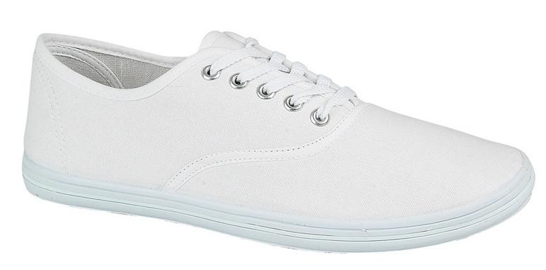 mens lace up canvas pumps plimsolls deck shoes white size