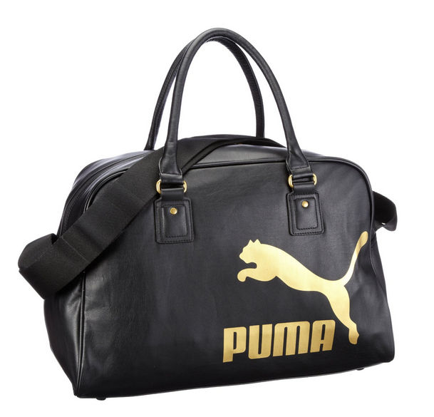 Puma Originals Leather Look Gym Holdall Sports Weekend Shoulder