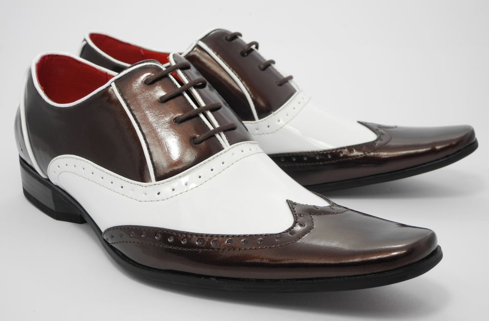 Black And White Gatsby Shoes