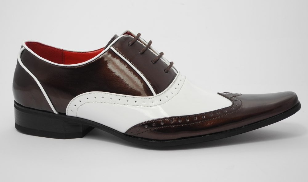 Mens Brown Spats Shoes