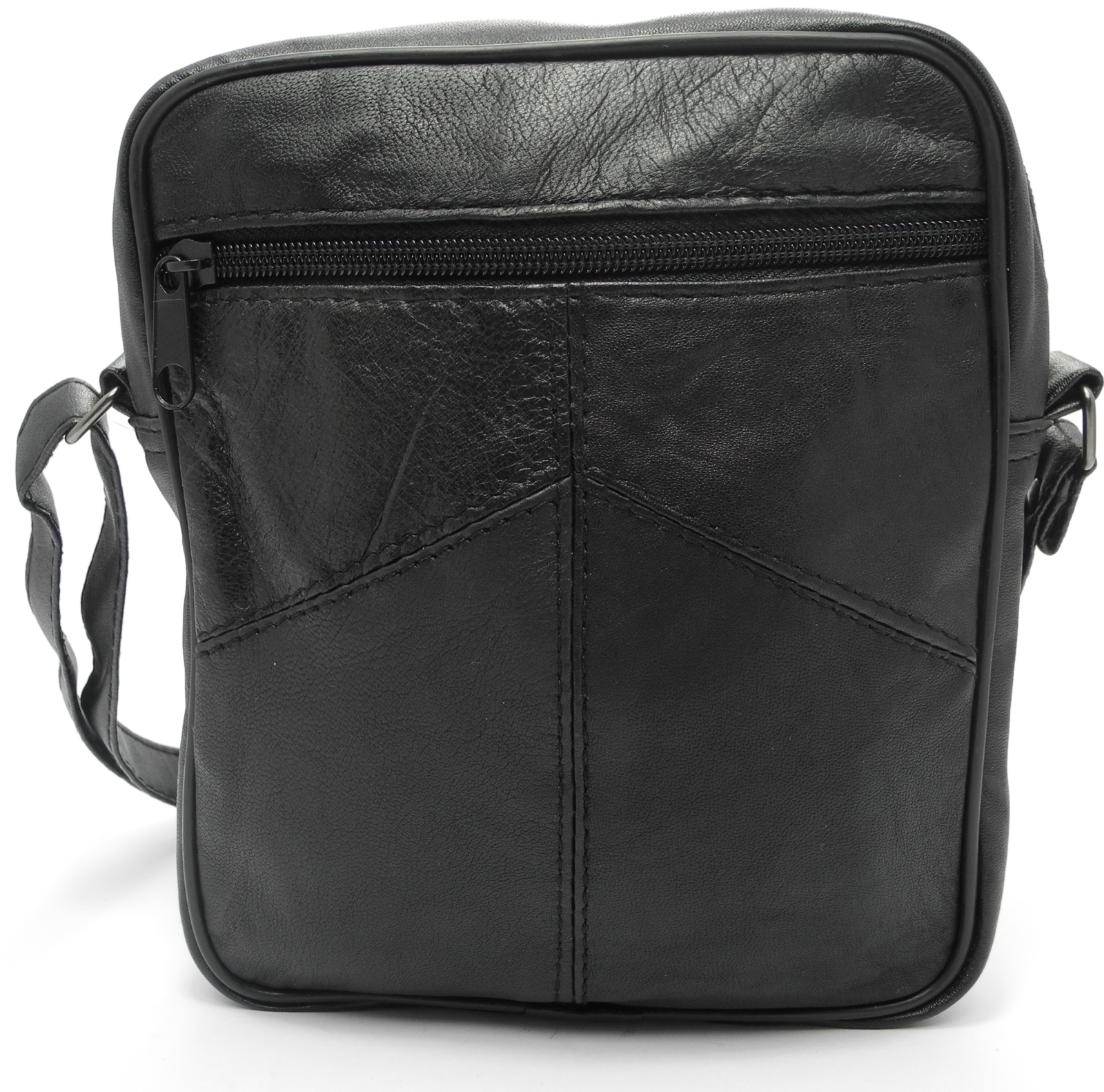 Unisex-Mens-Leather-Handbag-Small-Shoulder-Man-Bag-Manbag-BLACK-BROWN