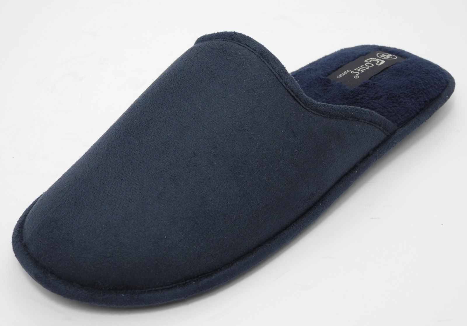 Mens-COSIES-Micro-Suede-Mules-Mule-Slippers-BLACK-BLUE-Size-6-7-8-9-10-11