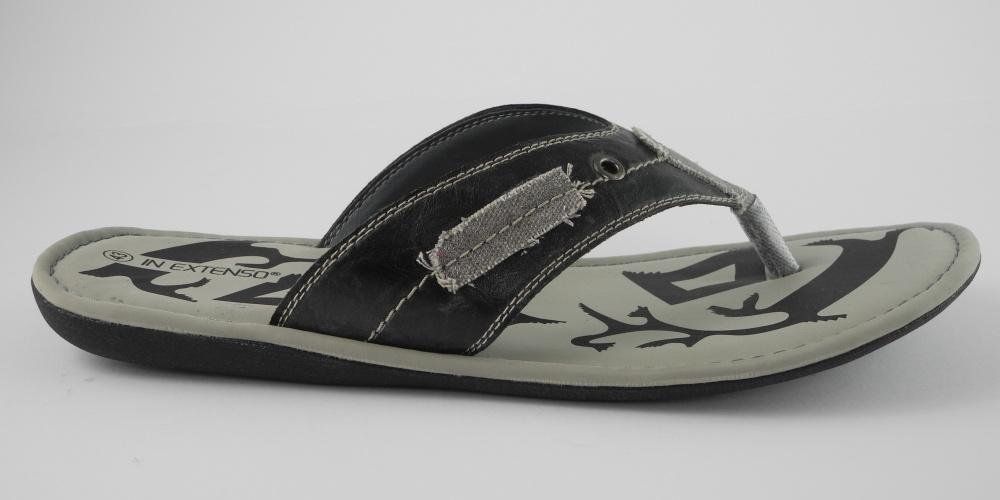 herren in extenso leder look zehensteg flip flops sandalen. Black Bedroom Furniture Sets. Home Design Ideas