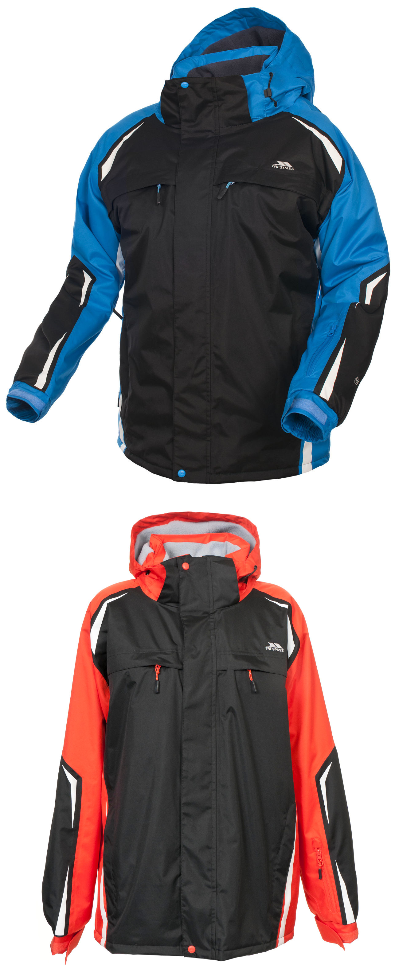 herren trespass thermo wasserfest ski jacke schwarz blau orange gr e xxs xxl ebay. Black Bedroom Furniture Sets. Home Design Ideas