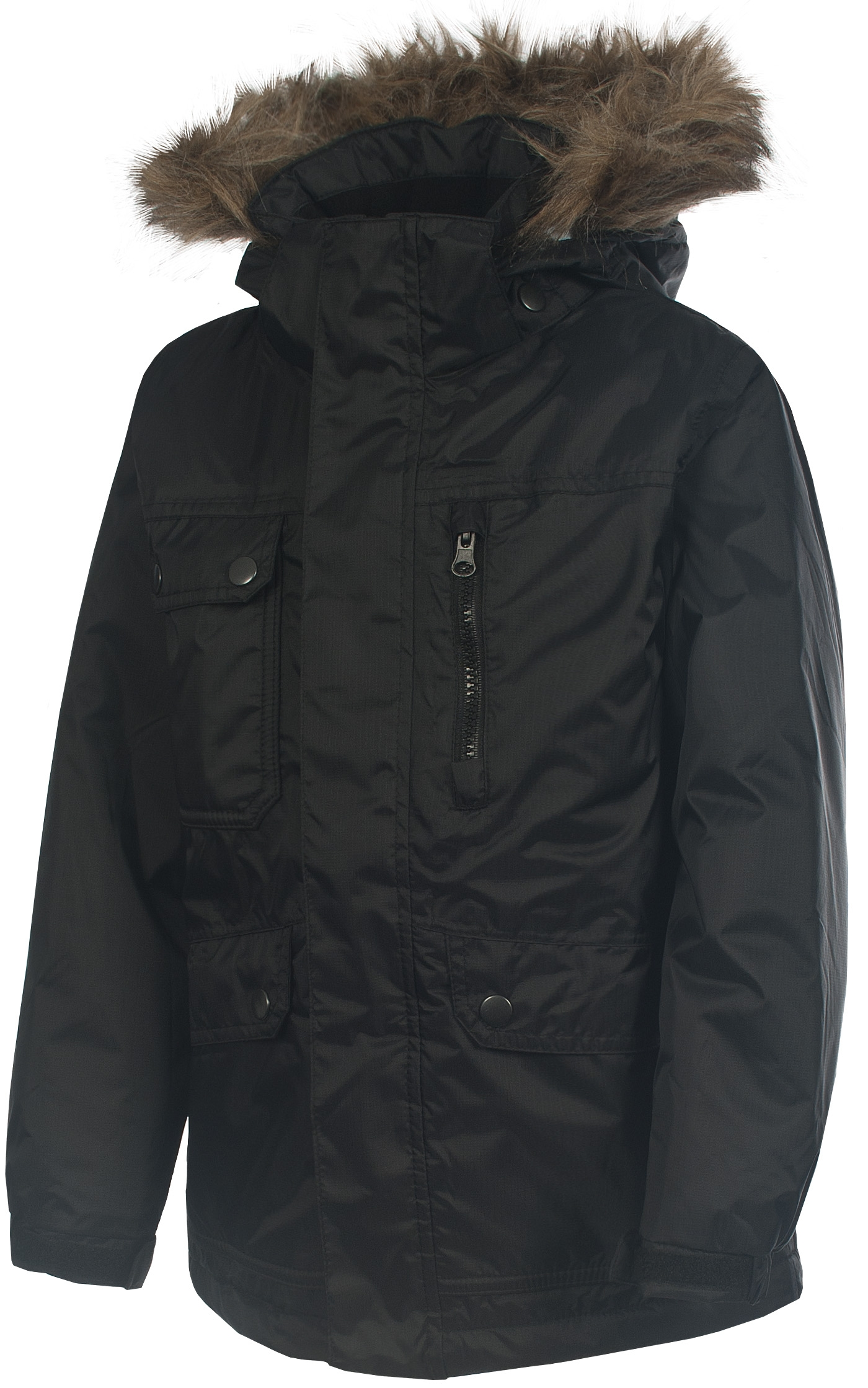 Boys-TRESPASS-ARNOTT-Waterproof-Thermal-Winter-Parka-Jacket-BLACK-Ages-2-12