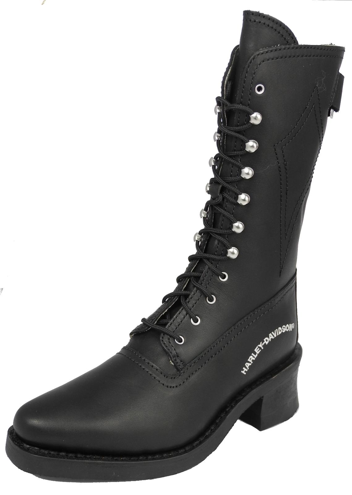 Cool   Harley Davidson Vada Black Womens Cowboy Biker Boots Size 9 Shoes
