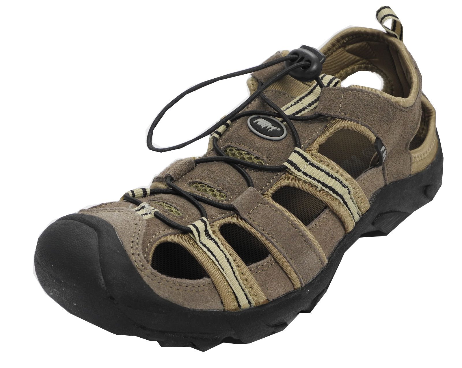 Mens Suede Leather Closed Toe Sandals Summer Hiking Shoes Brown ...