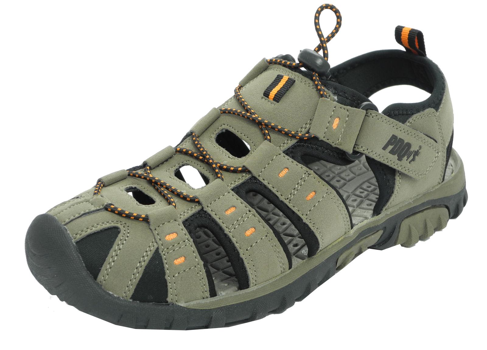 Black enclosed sandals - Thumbnail 1 Thumbnail 2 Thumbnail 3
