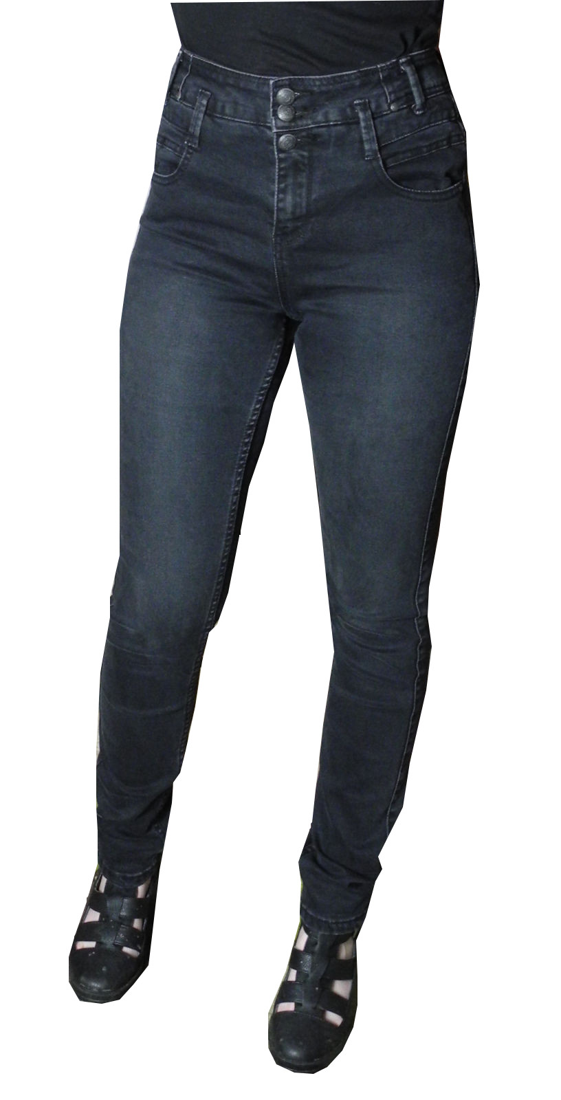 womens ladies ex new look high waist waisted jeans black blue size 8 10 12 14 16 ebay. Black Bedroom Furniture Sets. Home Design Ideas