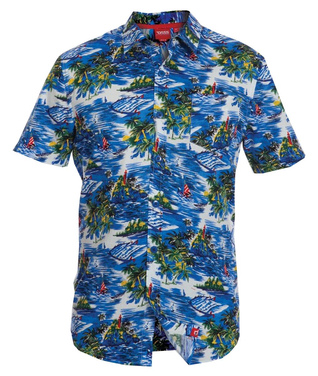 Mens Extra Large Big Size 4xl Hawaiian Shirt Short Sleeve
