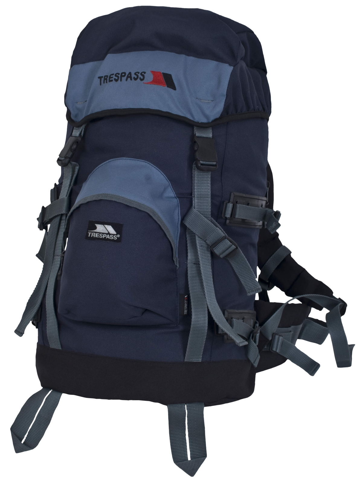 trespass harket x 35 litre rucksack camping backpack bag waterproof cover blue ebay. Black Bedroom Furniture Sets. Home Design Ideas