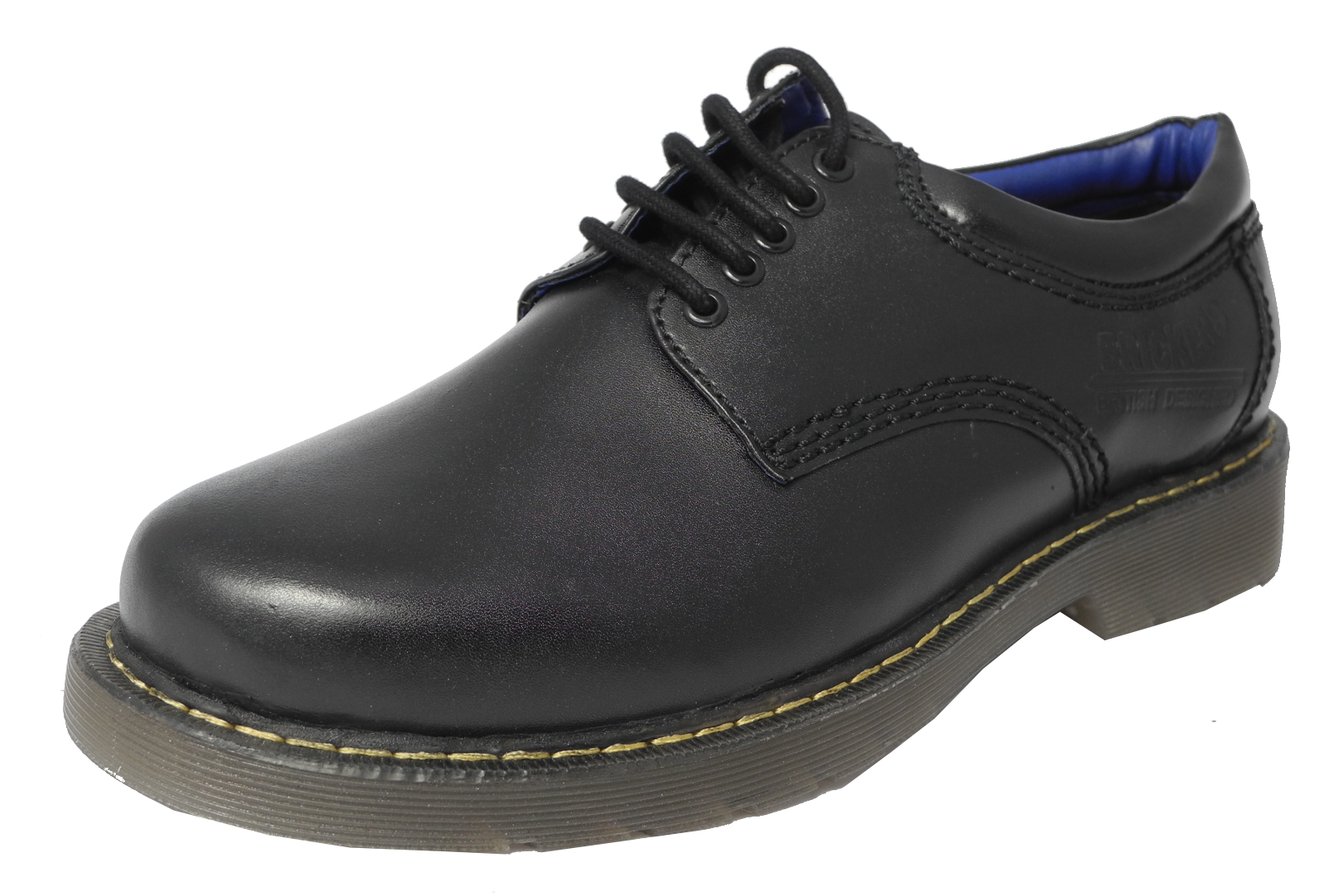 Black Work Shoes Wide Fit