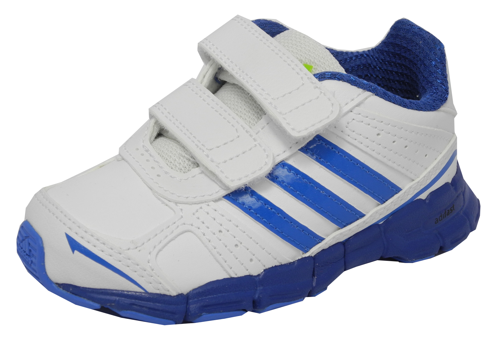 Small Boys Toddlers Kids ADIDAS Adifast Velcro Running Trainers Infant Size 4 Enlarged Preview