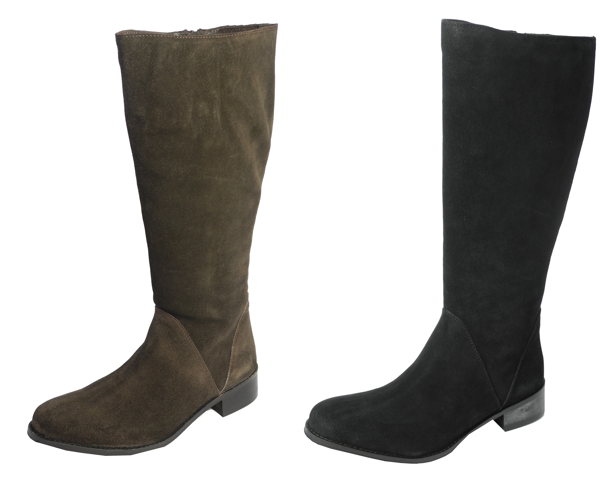 womens suede leather knee length style boots