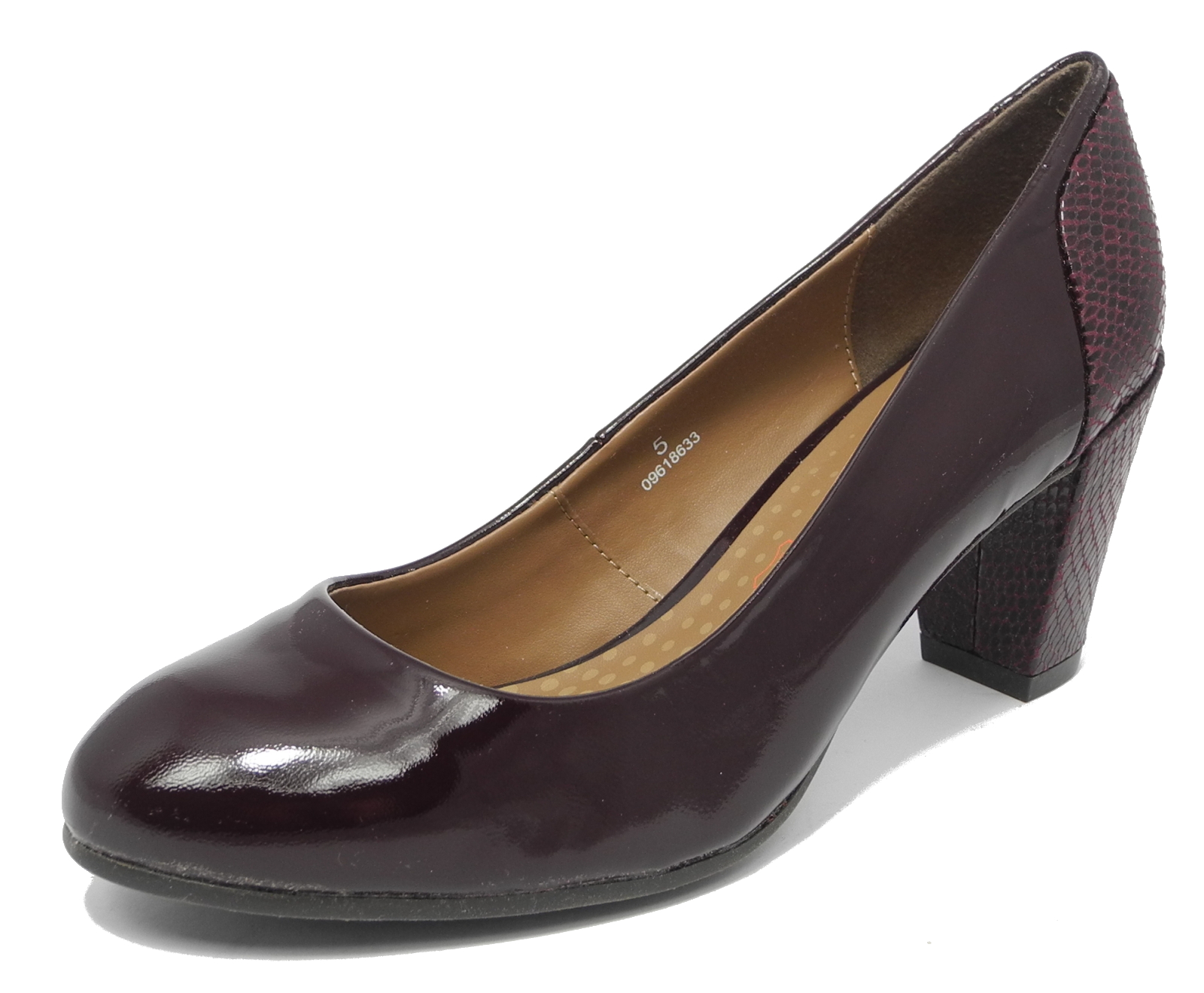 womens m s footglove wide fit shoes burgundy wine patent