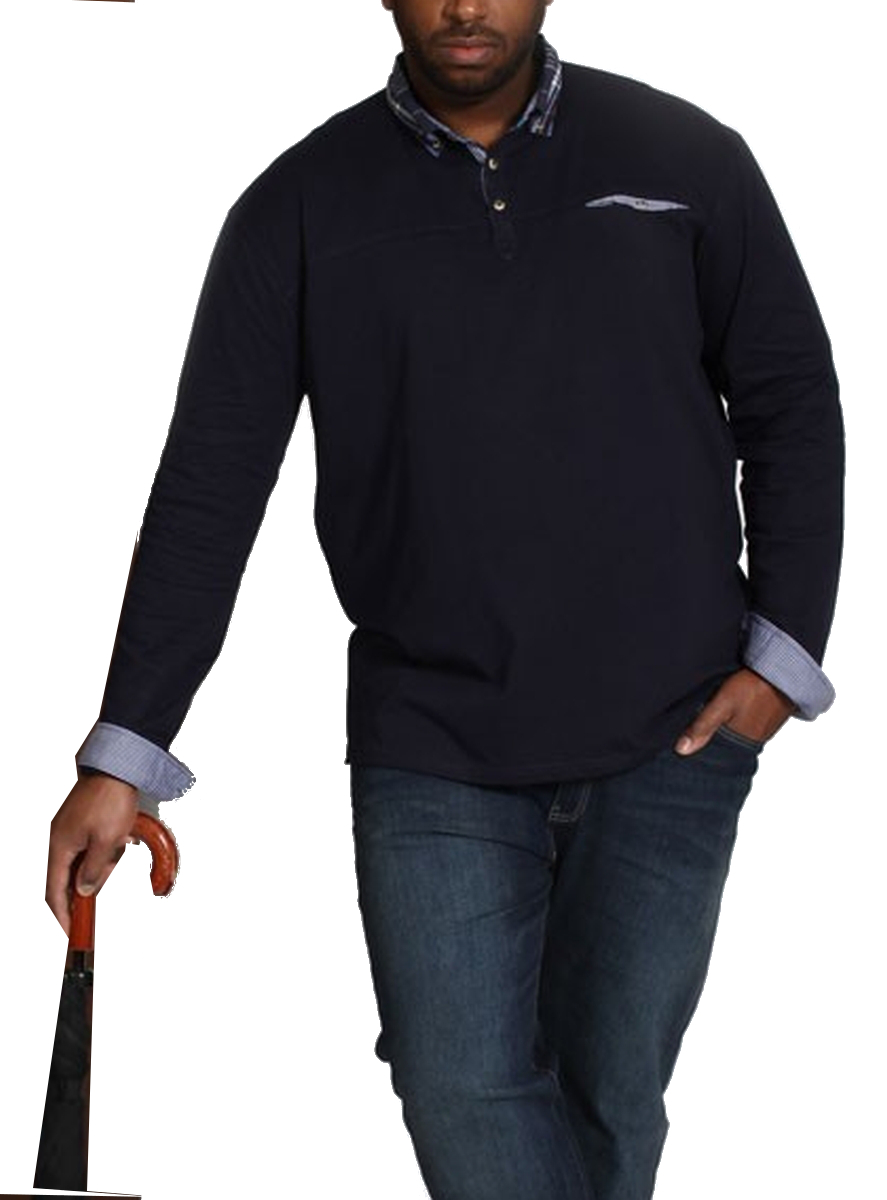 Mens extra large big size 4xl polo shirt long sleeve 100 for Longer length mens polo shirts