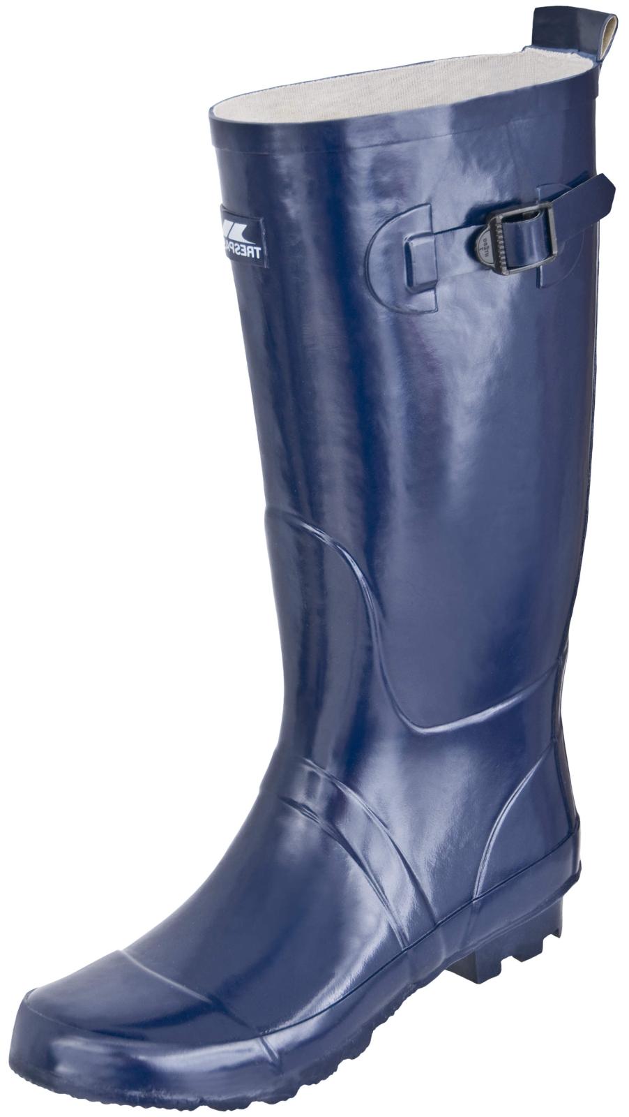 Mens TRESPASS RAFT Navy Blue Wellies Wellington Boots Size 7 8 9 10 11 12