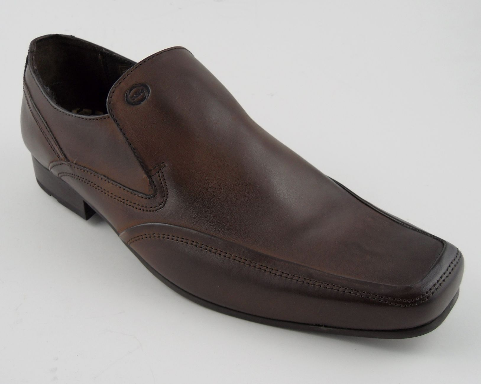 London Base Mens Brown Dress Shoes