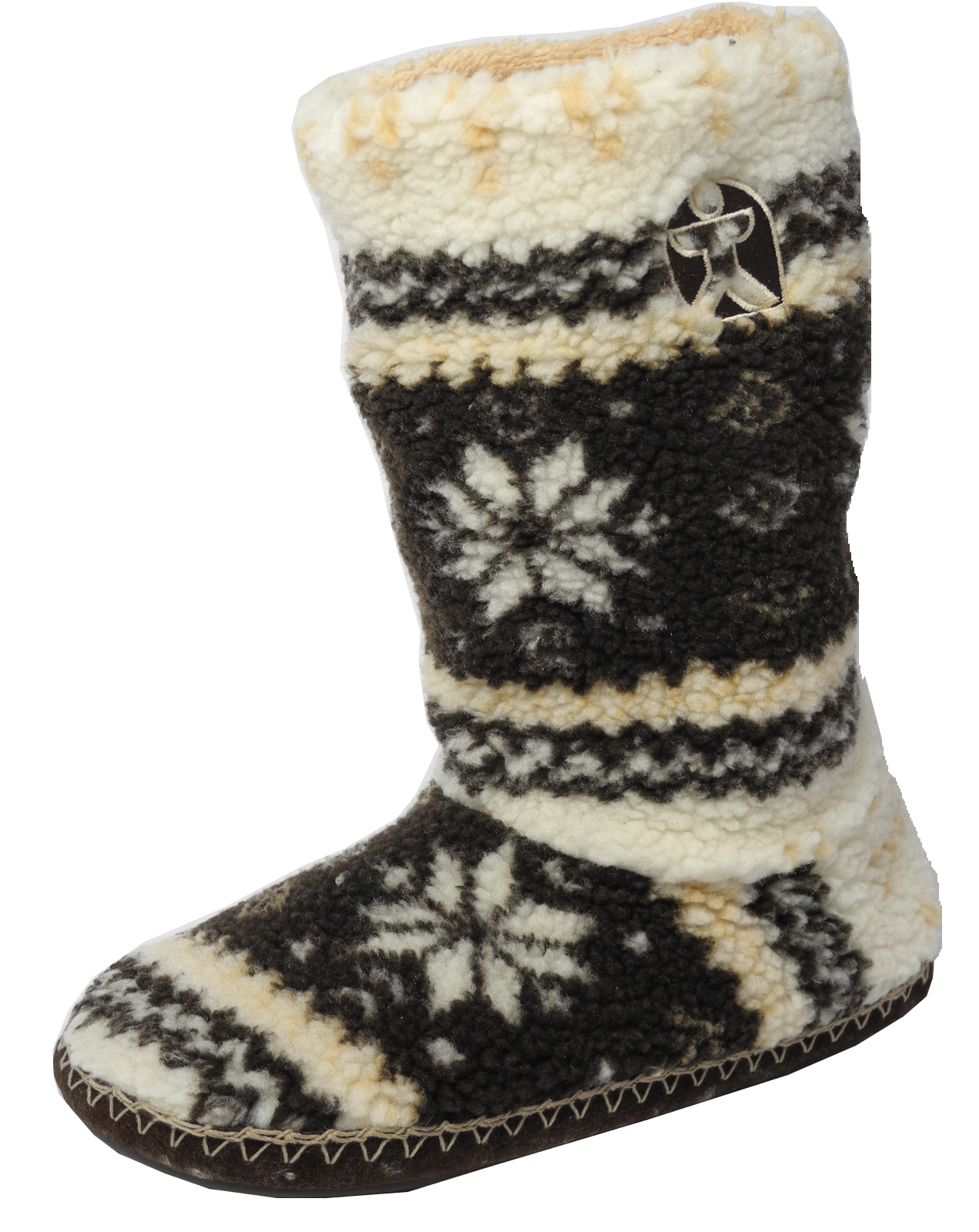 Mens Bedroom Athletics Fairisle Sherpa Fleece Fur Tall Boot Bootie ...