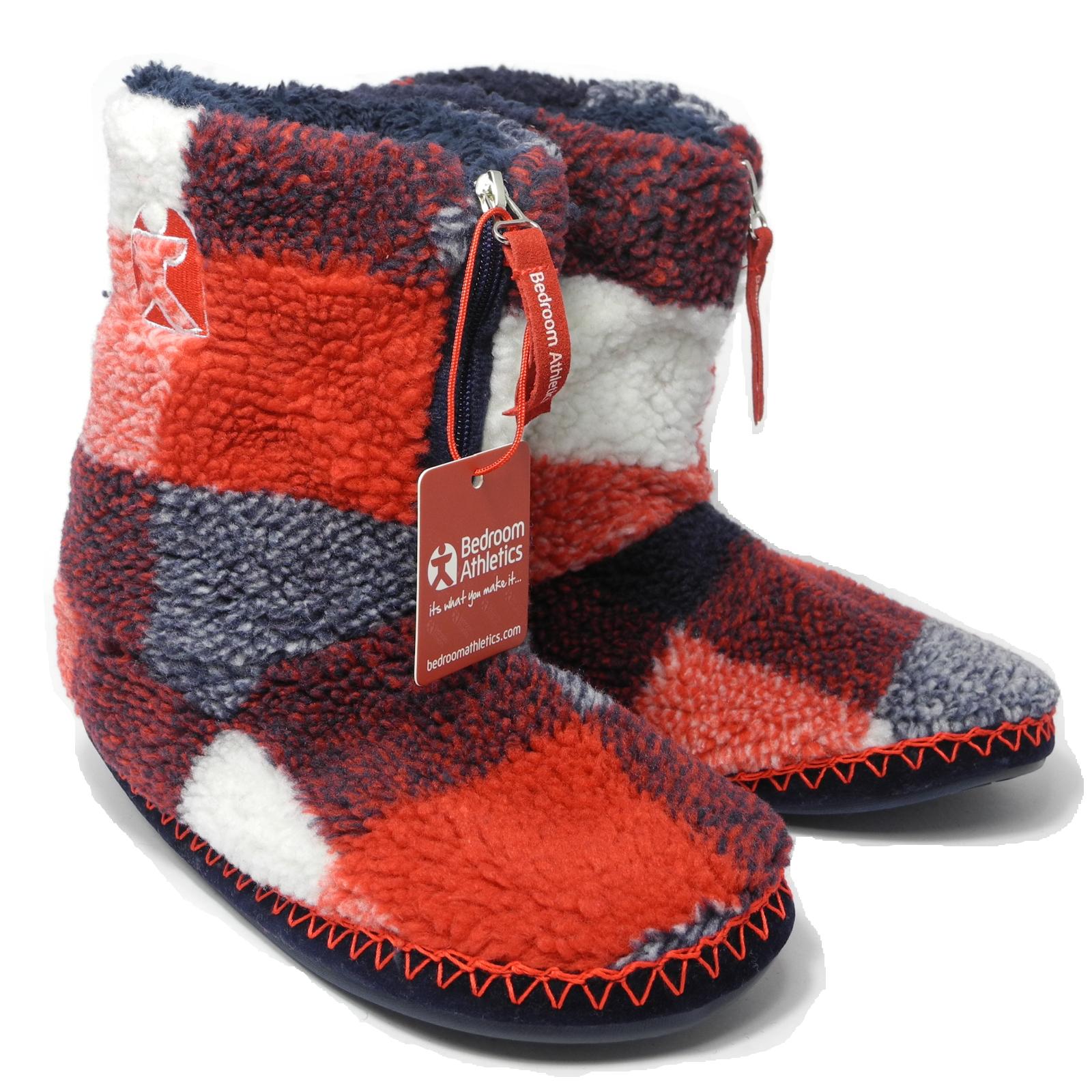 Mens Bedroom Athletics Sherpa Fleece Warm Fur Zipped Boots