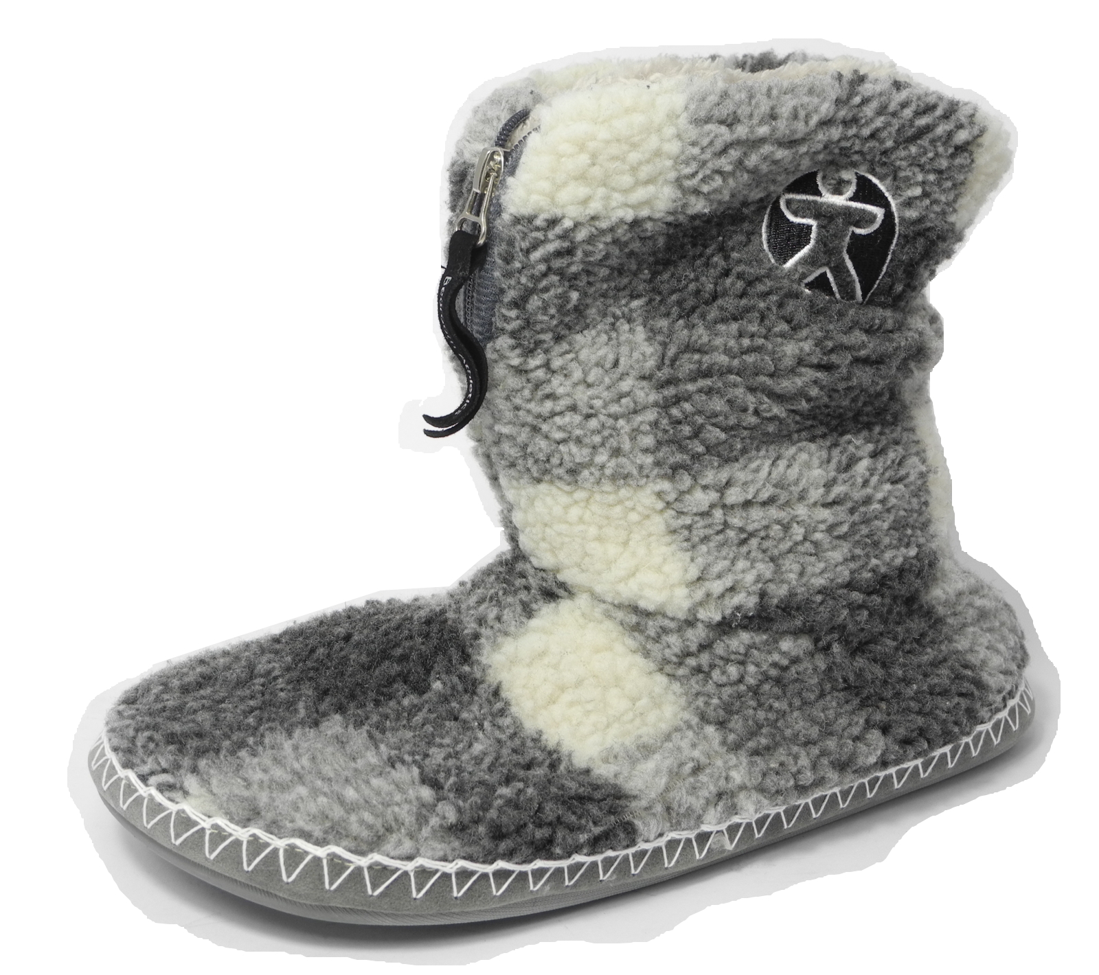 Mens Bedroom Athletics Sherpa Fleece Warm Fur Zipped Boots