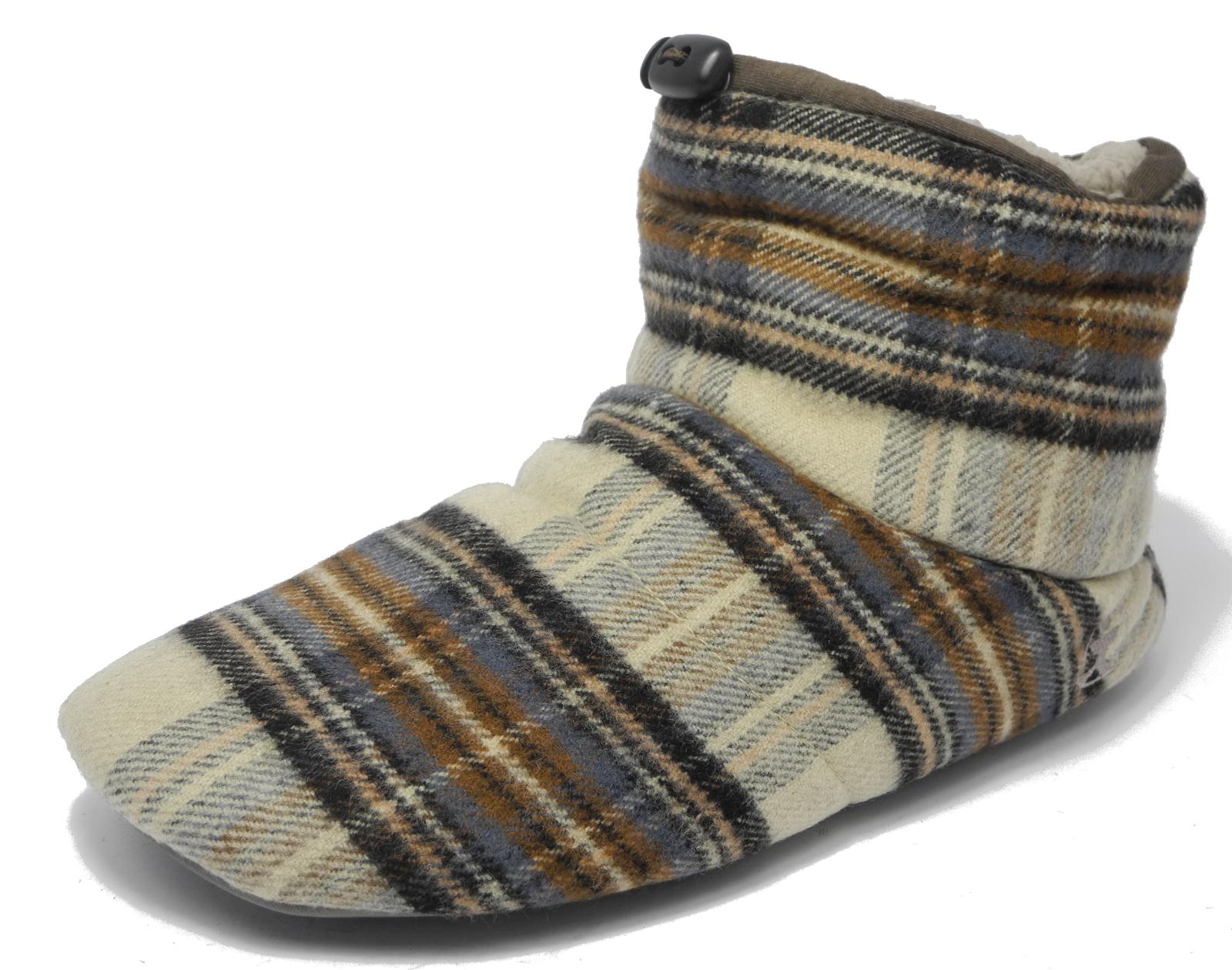Mens Bedroom Athletics Brushed Cotton Soft Fleece Fur Boot Bootie ...