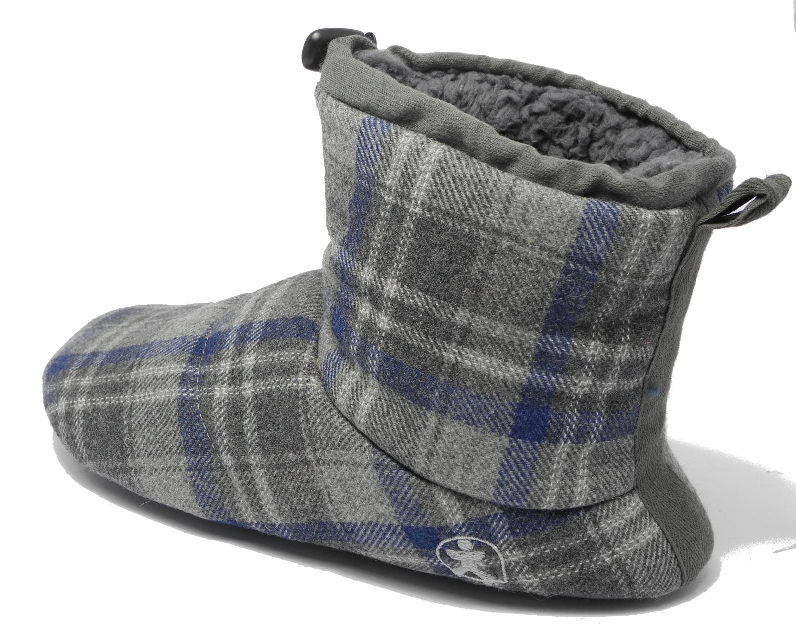 Mens Bedroom Athletics Brushed Cotton Soft Fleece Fur Boot