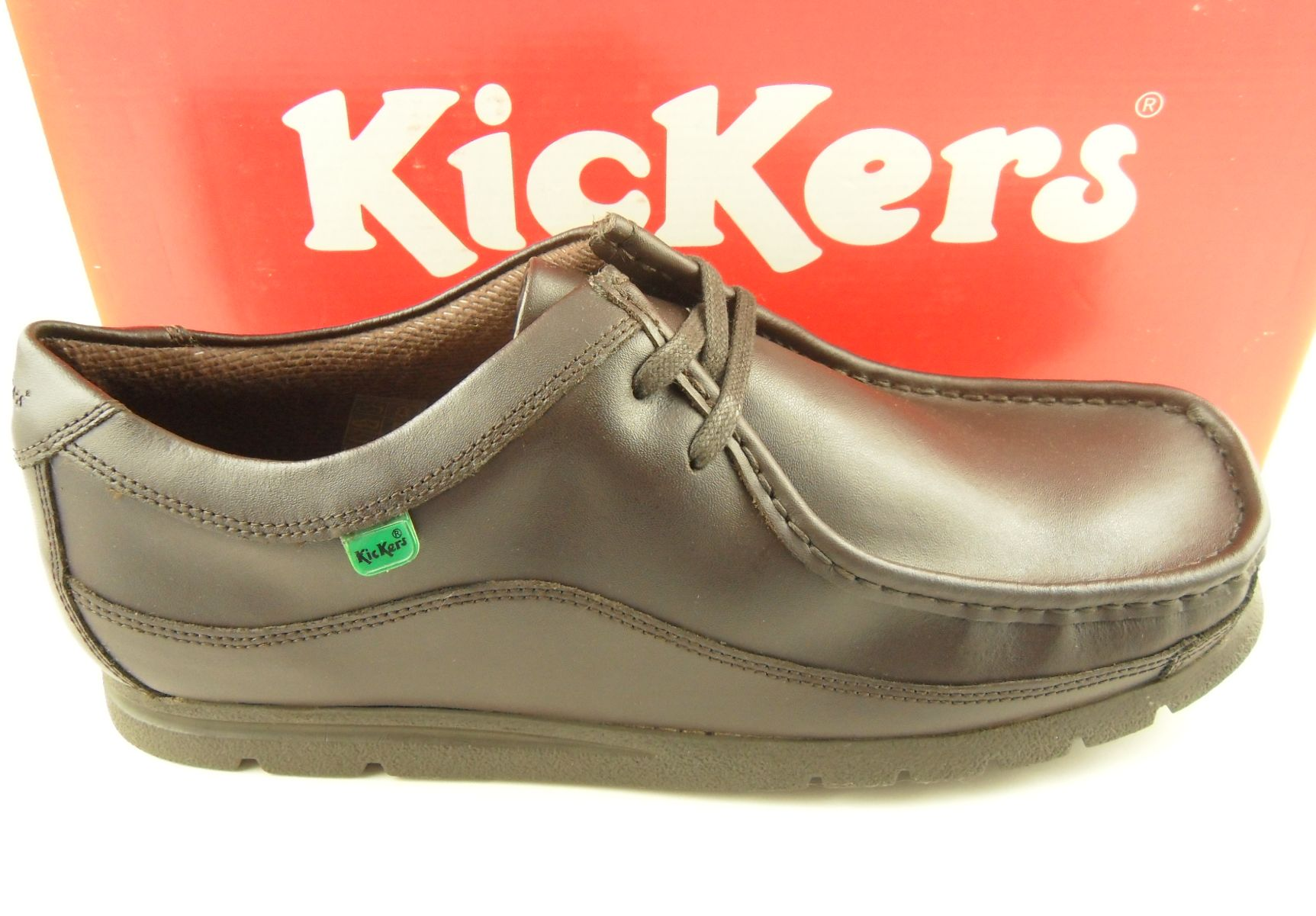 Mens KICKERS Fragile Brown Leather Wallaby Shoes 6-11 | eBay