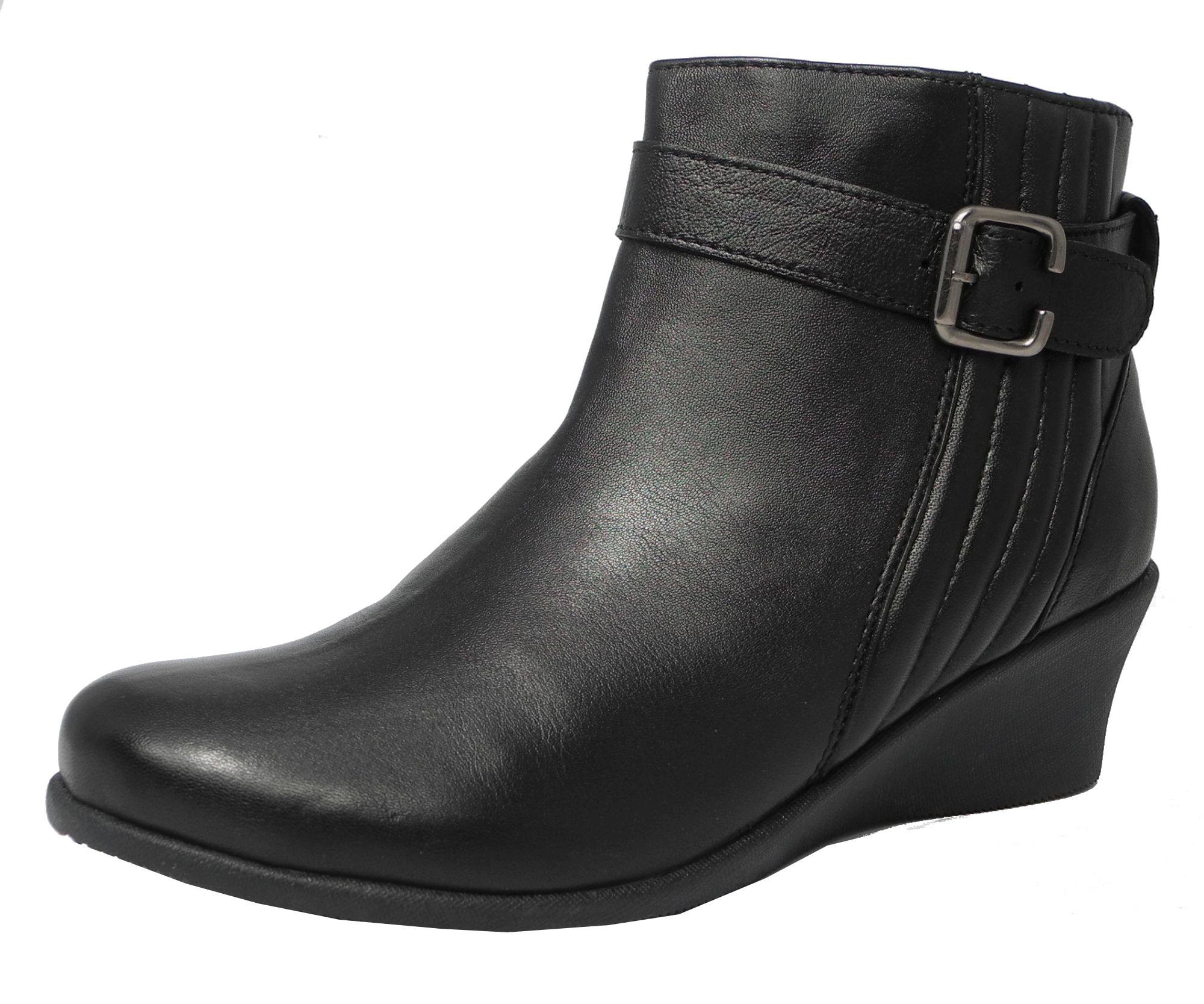 Find womens black leather wedge boots at ShopStyle. Shop the latest collection of womens black leather wedge boots from the most popular stores - all.