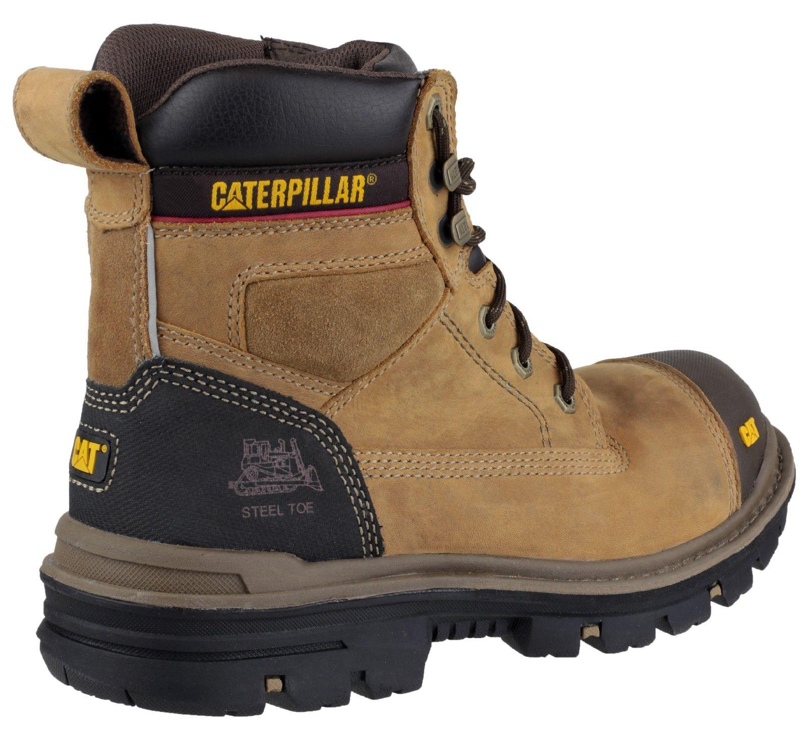 Mens CAT Caterpillar Gravel Steel Toe Cap Safety Work Boots Black