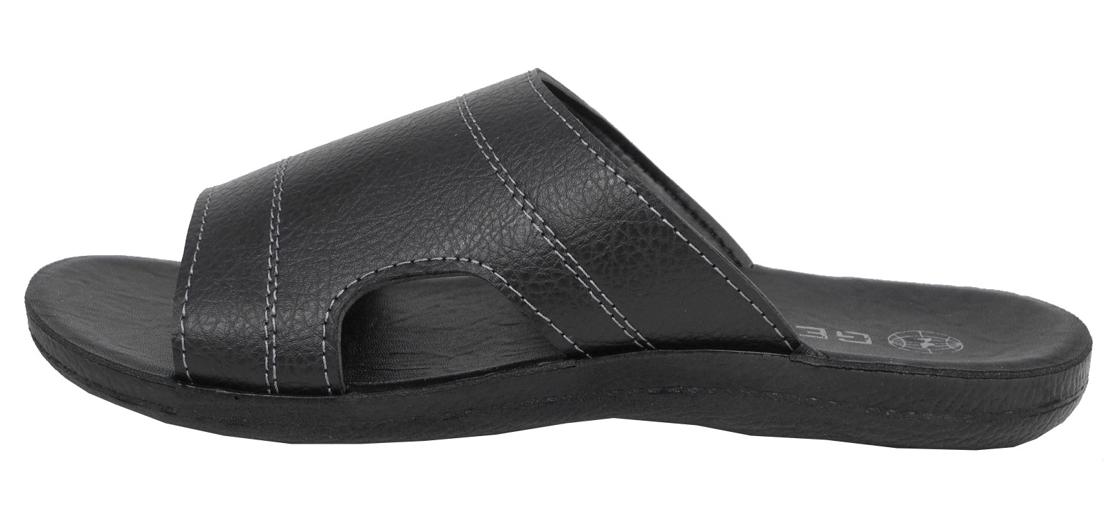 Black jesus sandals - Mens Gezer Leather Look Mule Style Jesus Sandals