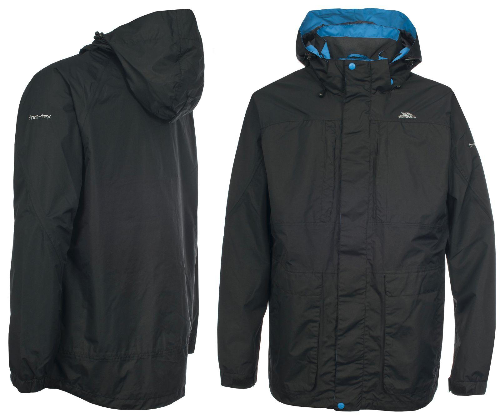 Mens Teens Trespass Waterproof Breathable Rain Jacket Coat