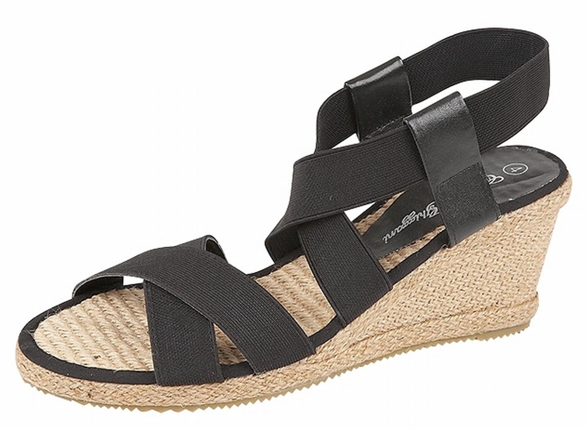 femme lastique talon compens corde espadrilles sandales. Black Bedroom Furniture Sets. Home Design Ideas