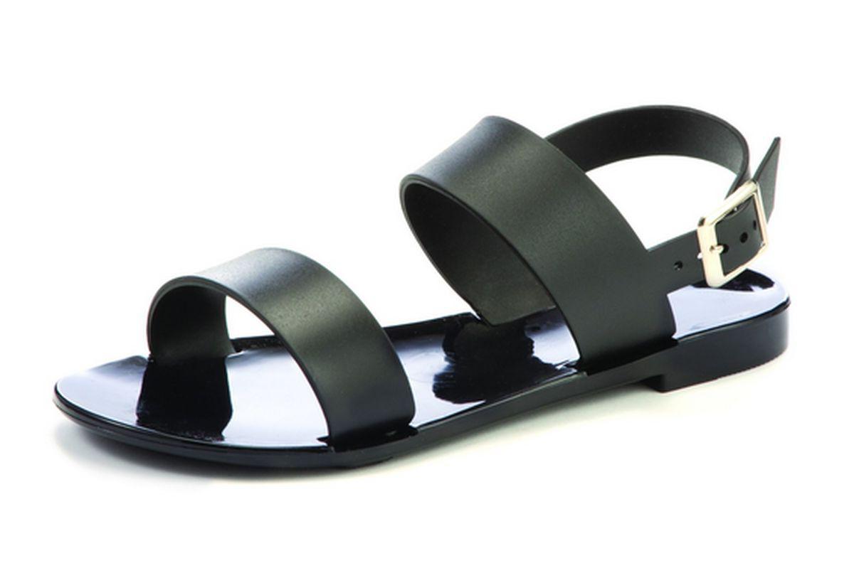 Black sandals size 11 - Girls Slingback Jelly School Sandals Jellies Black White