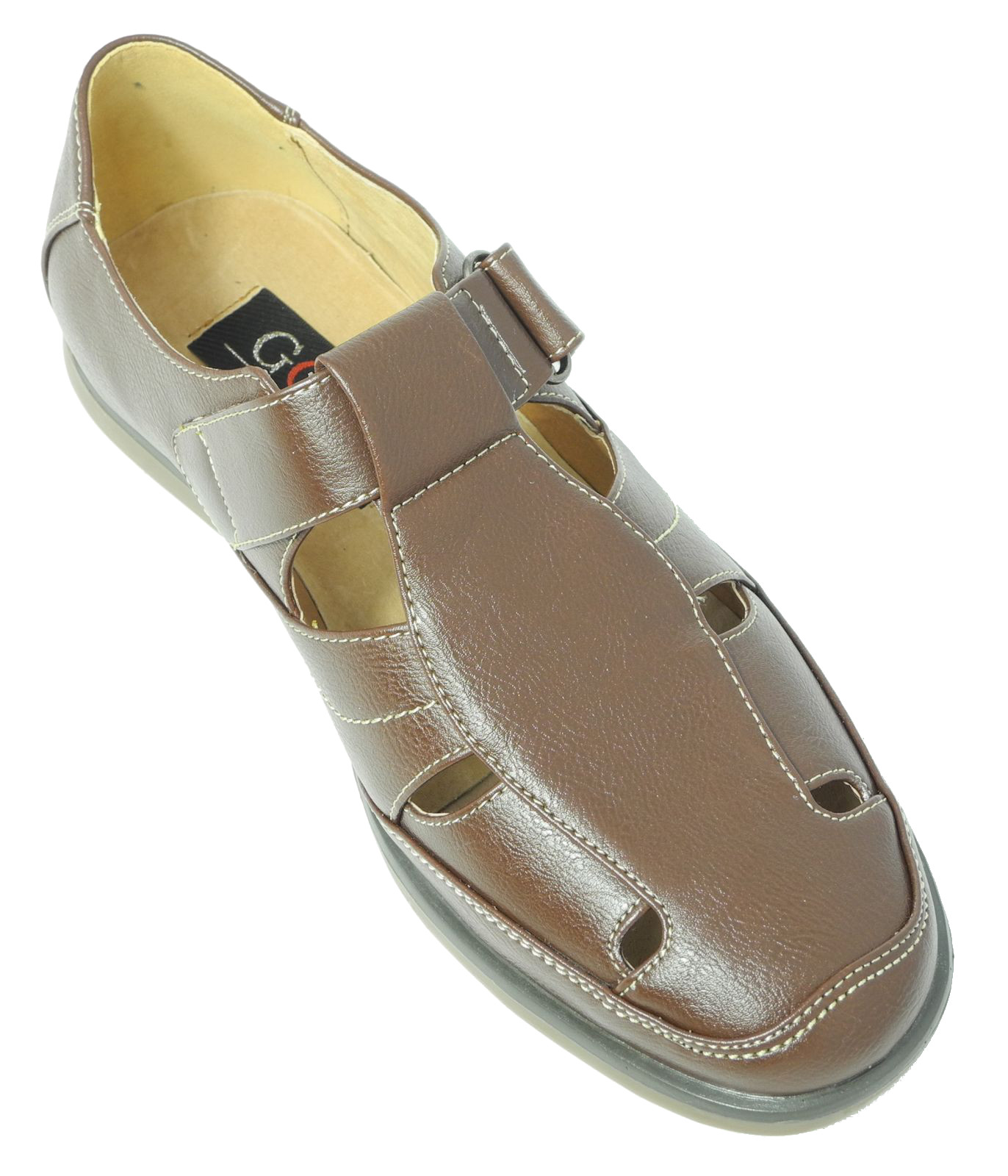 Mens Leather Lined Walking Shoes