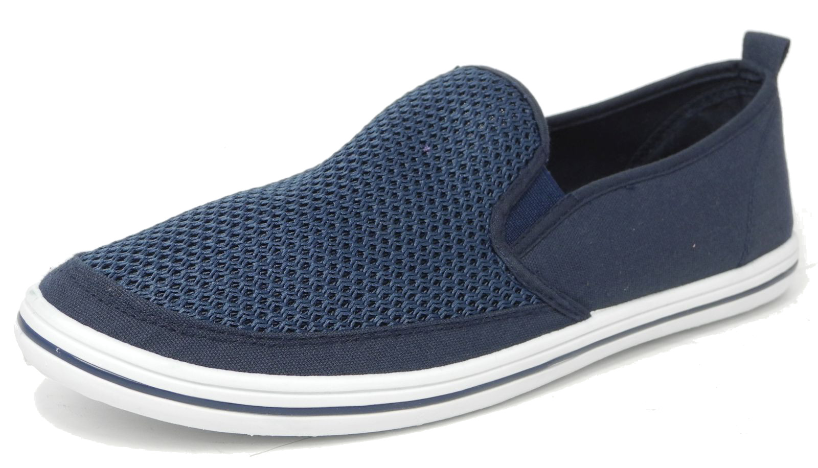 Mens Mesh Canvas Yachting Deck Shoes
