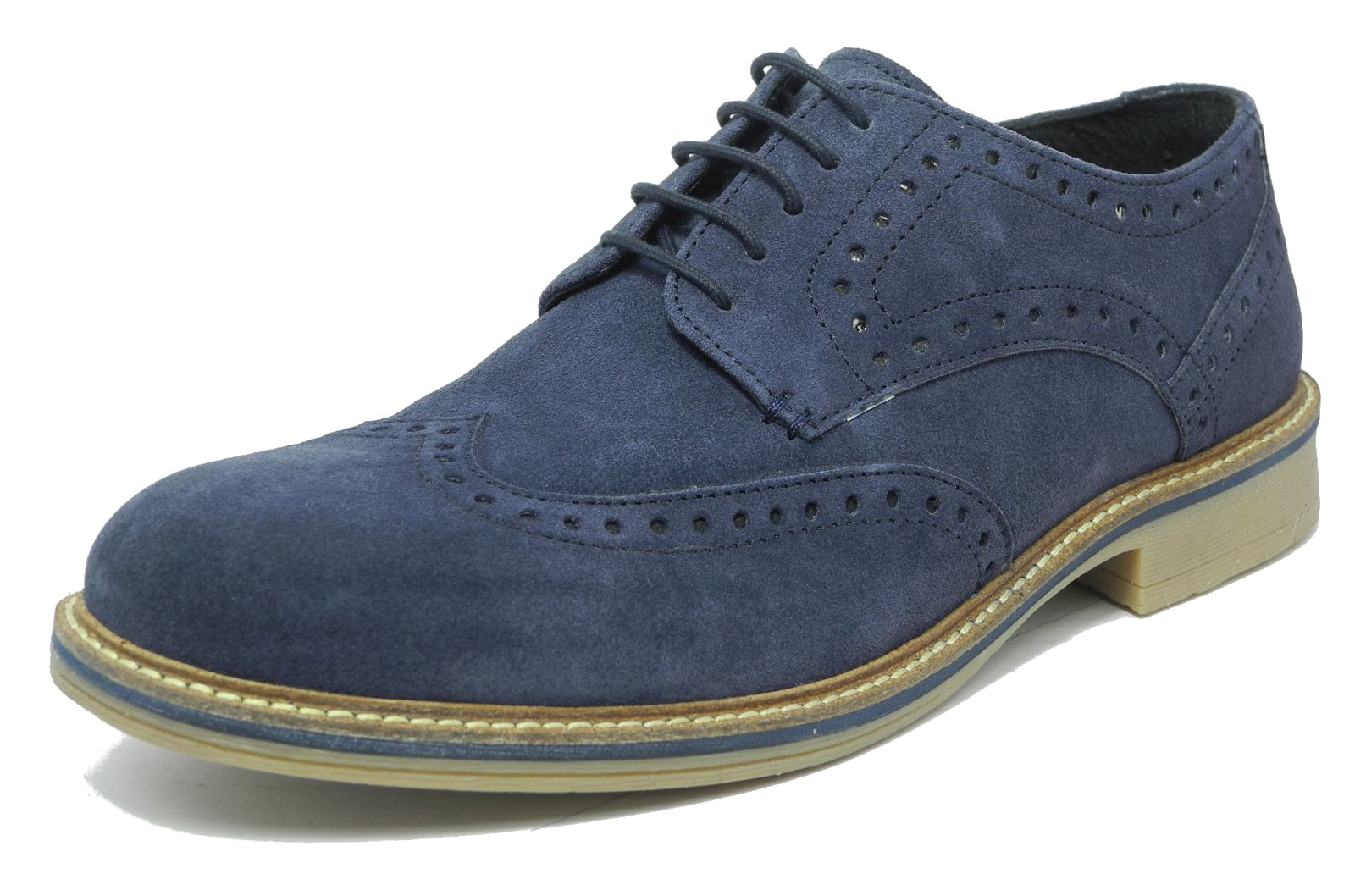 Mens Oxford Blue Suede Shoes