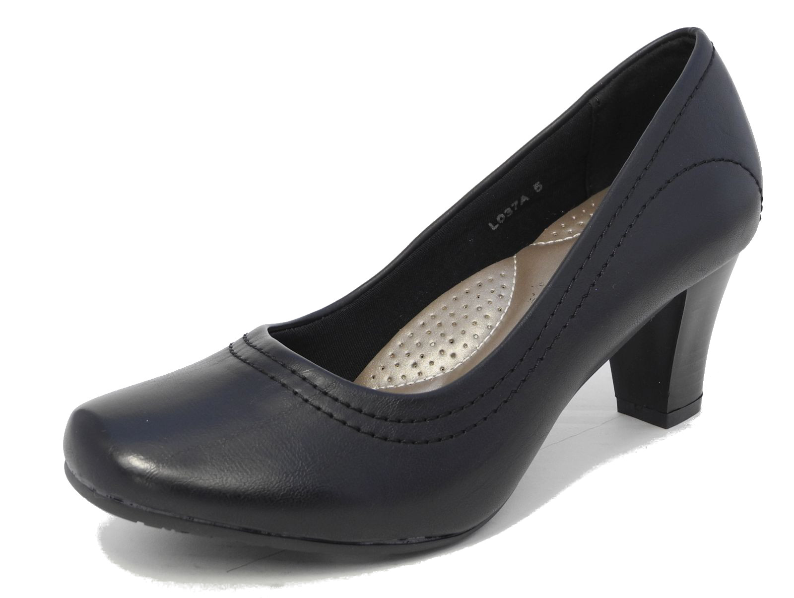 Chanel Pre-owned Patent Leather Court Shoes - Satin heels with patent leather buckles on the shoe. The sole shows signs of wear. The heels are lightly scratched.