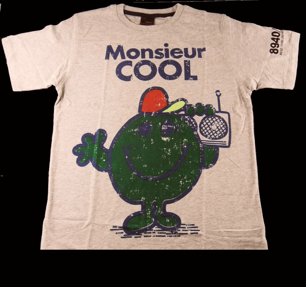 Boys NEXT Mr Men Monsieur Cool T Shirt Grey Age 11 Enlarged Preview