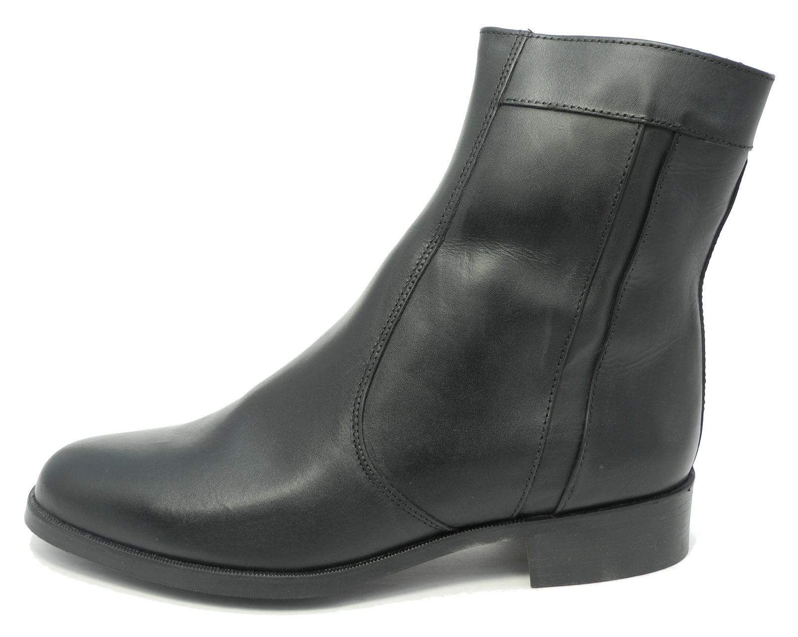 mens real leather zipped chelsea ankle boots inside zip