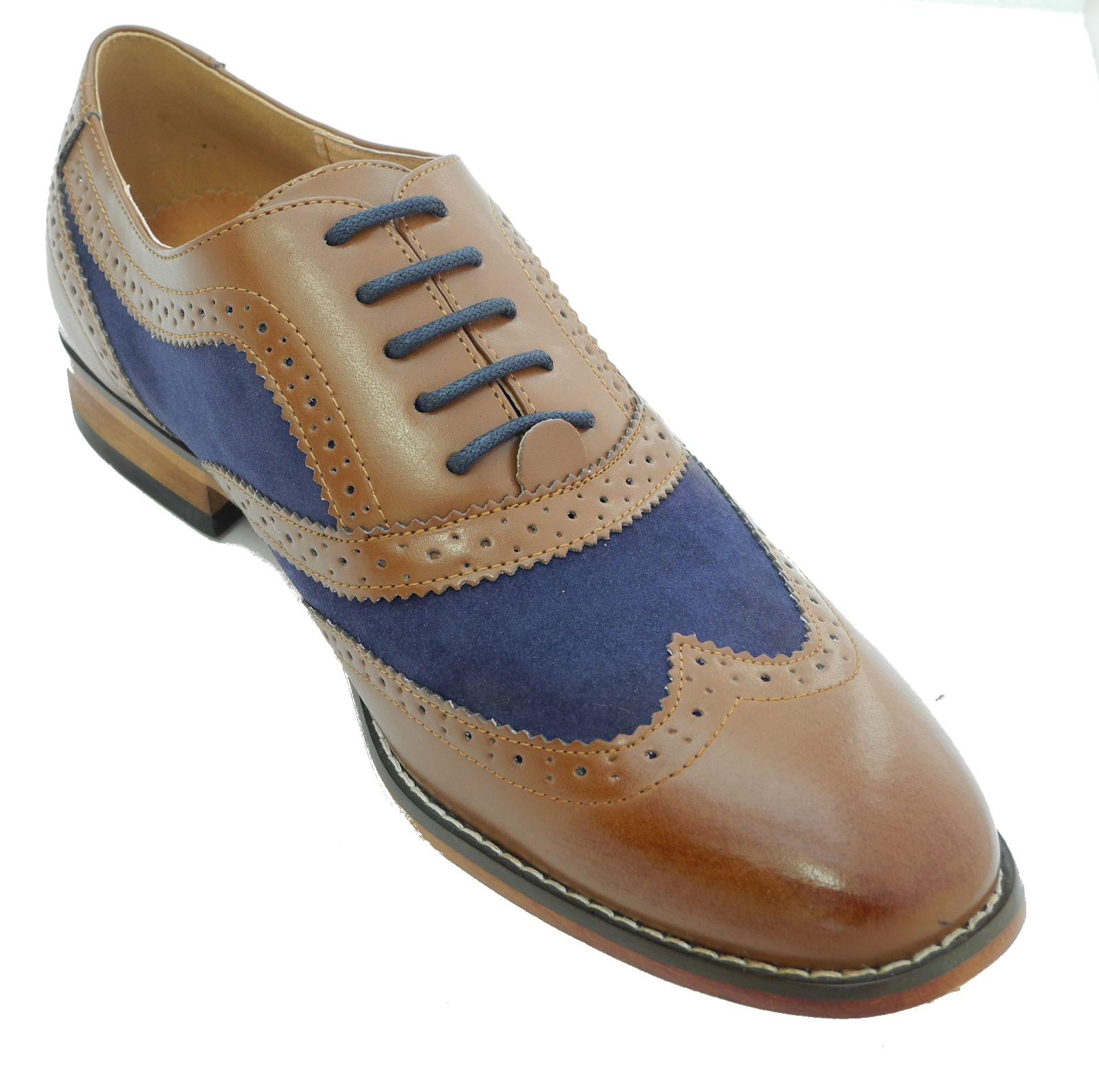 S Mens Two Tone Shoes